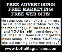 Lotto Magic 2 inch diplay advertisement - reverse title