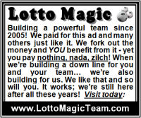 Lotto Magic 2 inch diplay advertisement - reverse footer