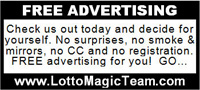 Lotto Magic 1 inch diplay advertisement