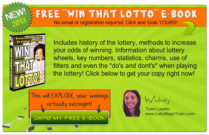 Free Lottery Strategy E-Book - Get YOURS!